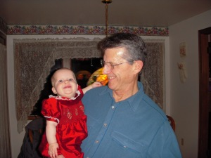 Audrey lovin' being with her Grampy!