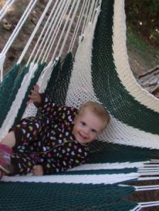 audie in hammock