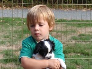 Kyler & puppy