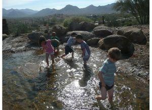 kids wading